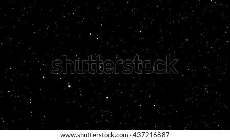 night sky with bright stars