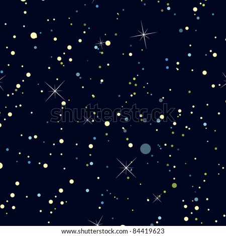 Night Sky with Stars  Seamless vector background, wallpaper