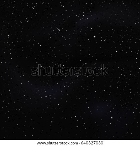 Night sky with stars - universe vector square texture