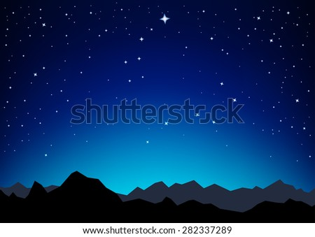 night sky with the