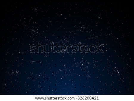 night star sky vector