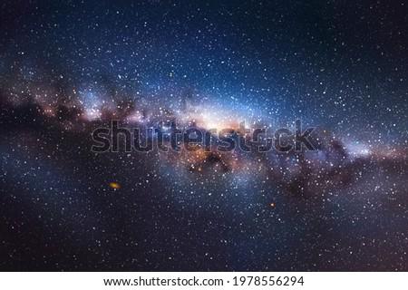 night starry sky milky way