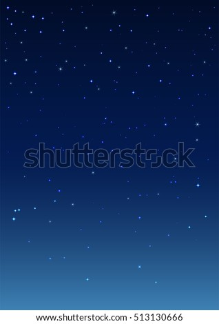 night starry sky vertical