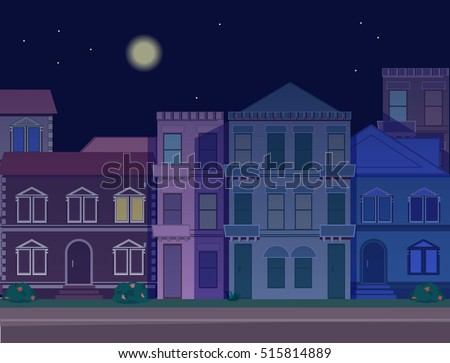 night street background with