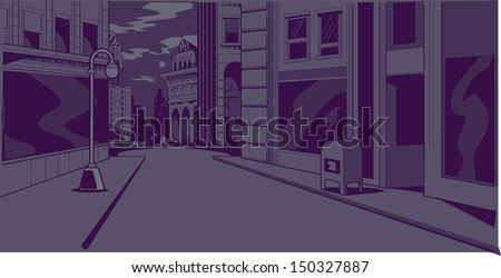 night time generic city street