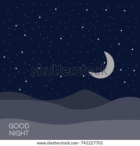 Night time sky background. Good night. Conceptual idea.