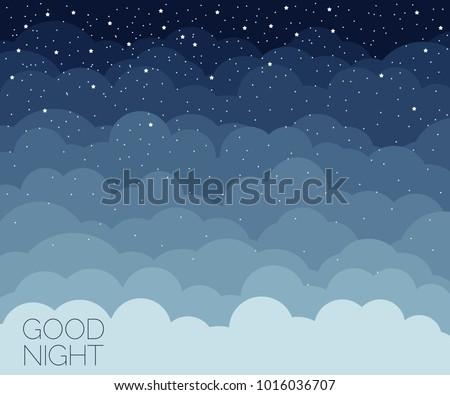 Night time sky background. Good night. Conceptual idea. Vector illustration EPS 8