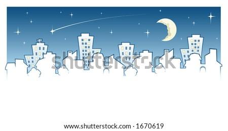 Night Town Skyline