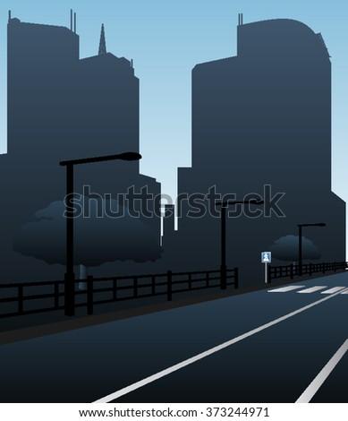 night urban landscapevector