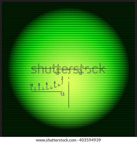 night view optical sight vector