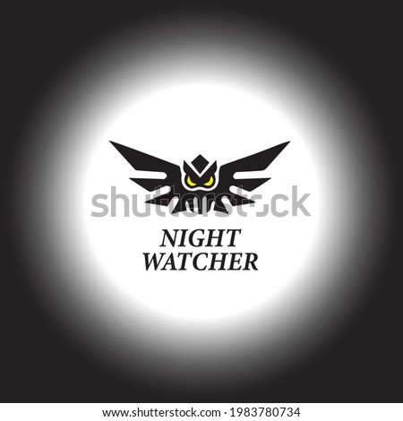 Night Watcher logo design for those who related  security etc Stock photo ©