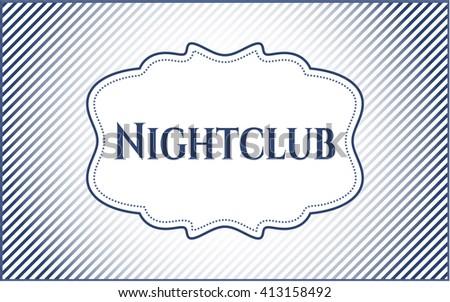Nightclub card, colorful, nice design
