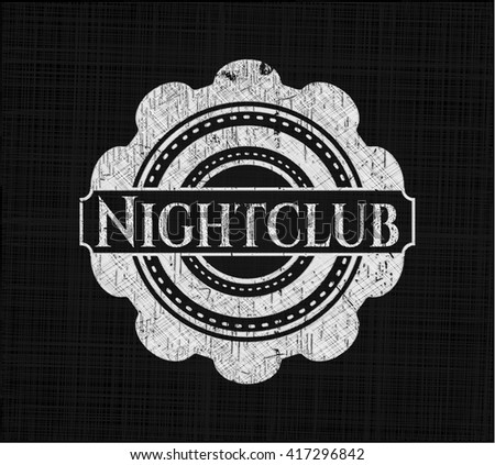 Nightclub chalk emblem, retro style, chalk or chalkboard texture