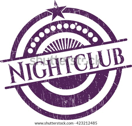 Nightclub grunge style stamp
