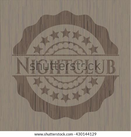 Nightclub retro wood emblem