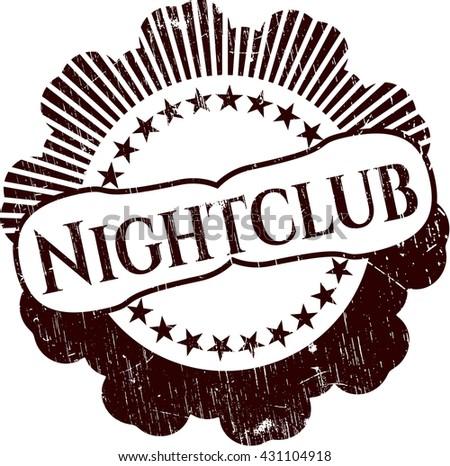 Nightclub rubber stamp with grunge texture