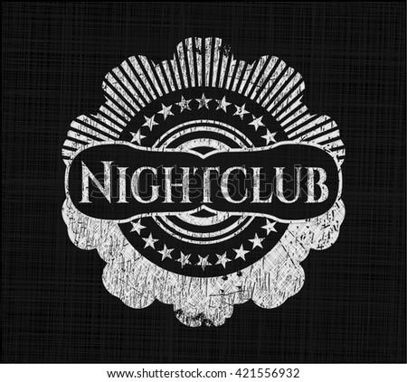 Nightclub written on a blackboard
