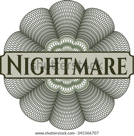 Nightmare abstract linear rosette