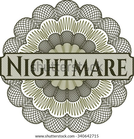 Nightmare abstract rosette