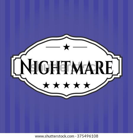 Nightmare card with nice design