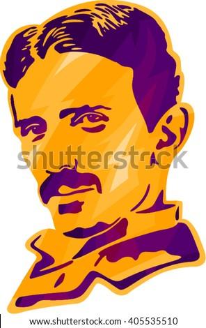 Nikola Tesla, Tesla print, Tesla portrait