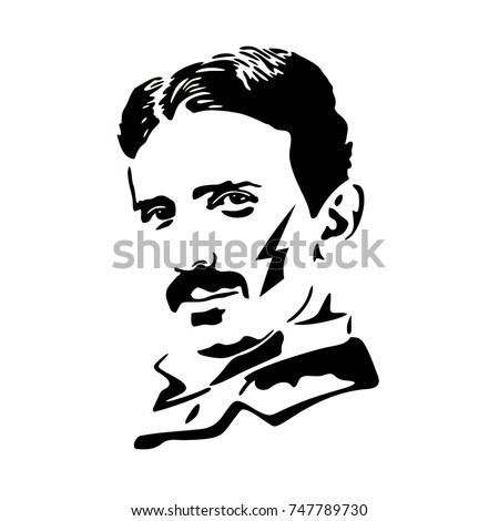 Nikola Tesla vector illustration portrait