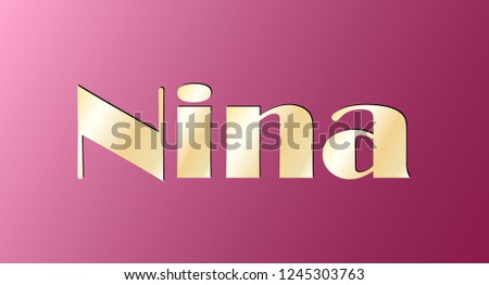 nina gold shining name