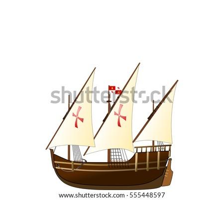 nina sailing ship   vector