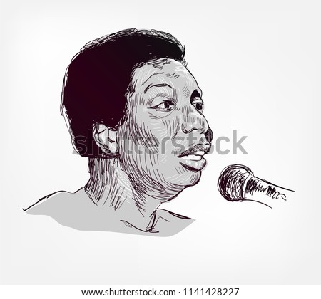 nina simone vector sketch