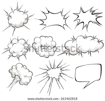 nine design of blank cloud