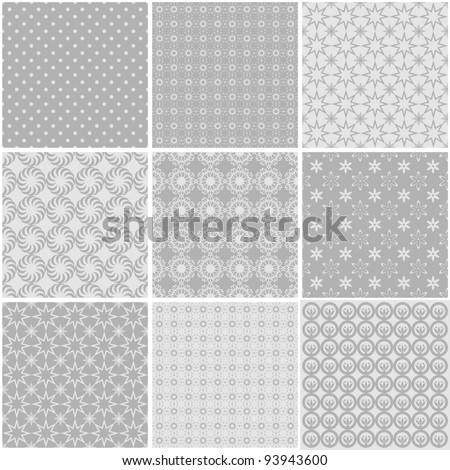 nine different seamless backgrounds