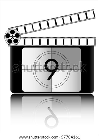 nine Film countdown vector
