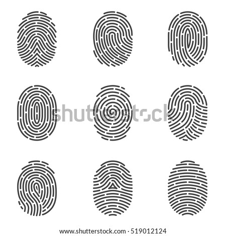 nine grey fingerprint types