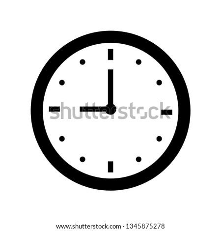nine o'clock icon outline vector Сток-фото ©