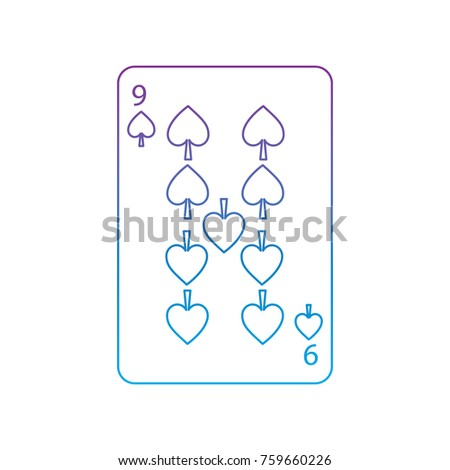nine of spades french playing