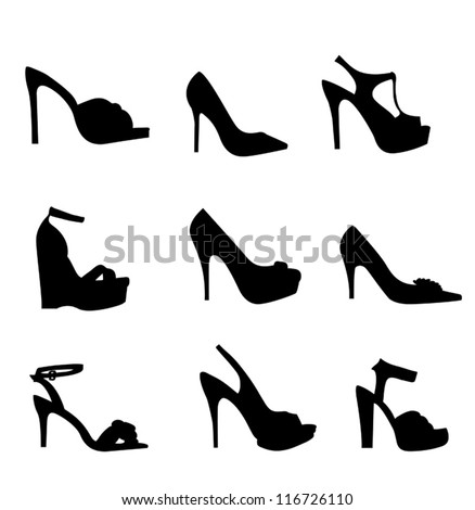 nine silhouette high heels
