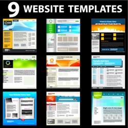 Nine website templates. First set.