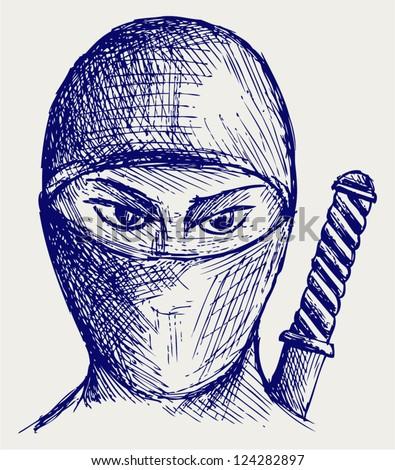 ninja assassin doodle style