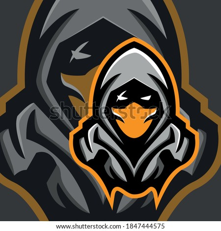 ninja assassin mascot logo for