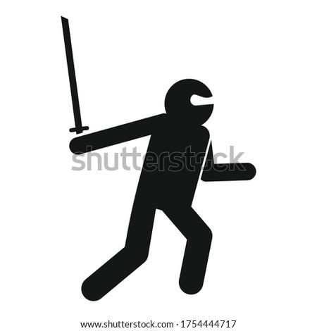 ninja character icon simple