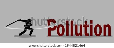 ninja cutting pollution word