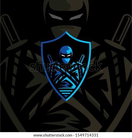 ninja e sports gaming mascot