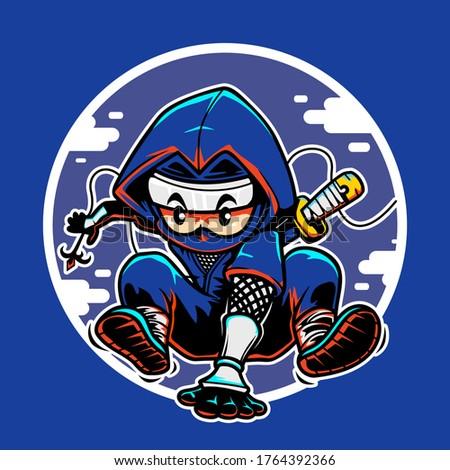 ninja jump illustration for you