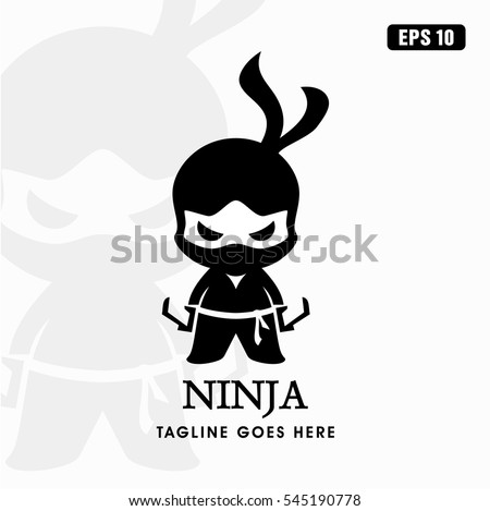ninja logo   icon vector design