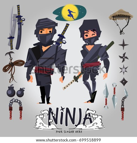 ninja male and female character