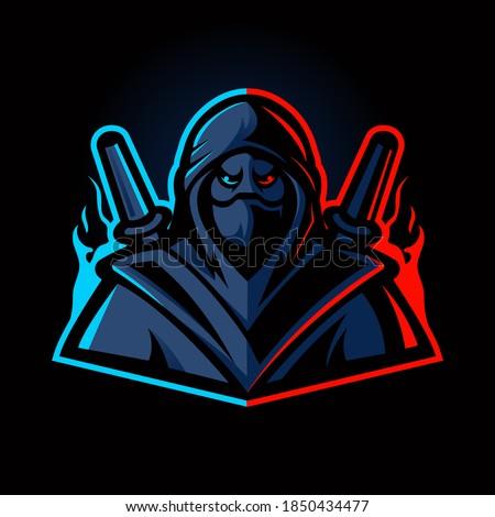 ninja mascot logo design vector