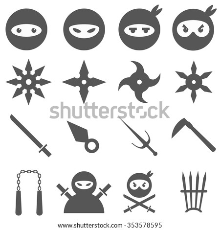 ninja  samurai and weapons