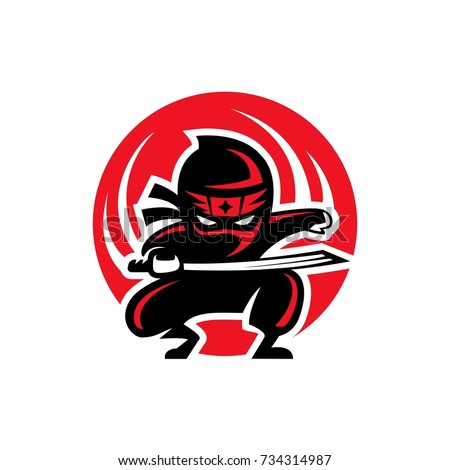 ninja shadow logo illustration