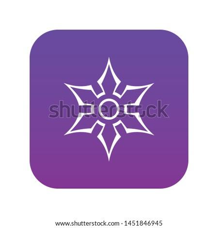 ninja shuriken star weapon icon
