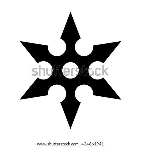 vector images illustrations and cliparts ninja shuriken throwing